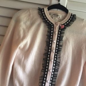 Nanette Lepore Cashmere XS Sweater Pink buttons